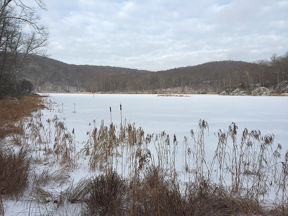 Photo by Chris Bosak View of Little Merganser Lake in Danbury, Conn., winter 2016.